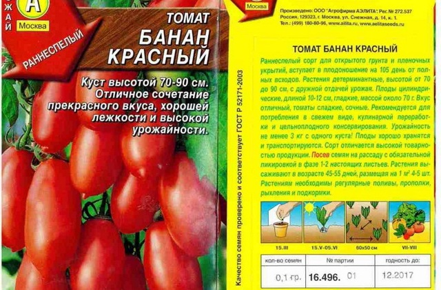 Томат Банан красный: описание и характеристики, фото, выращивание, отзывы